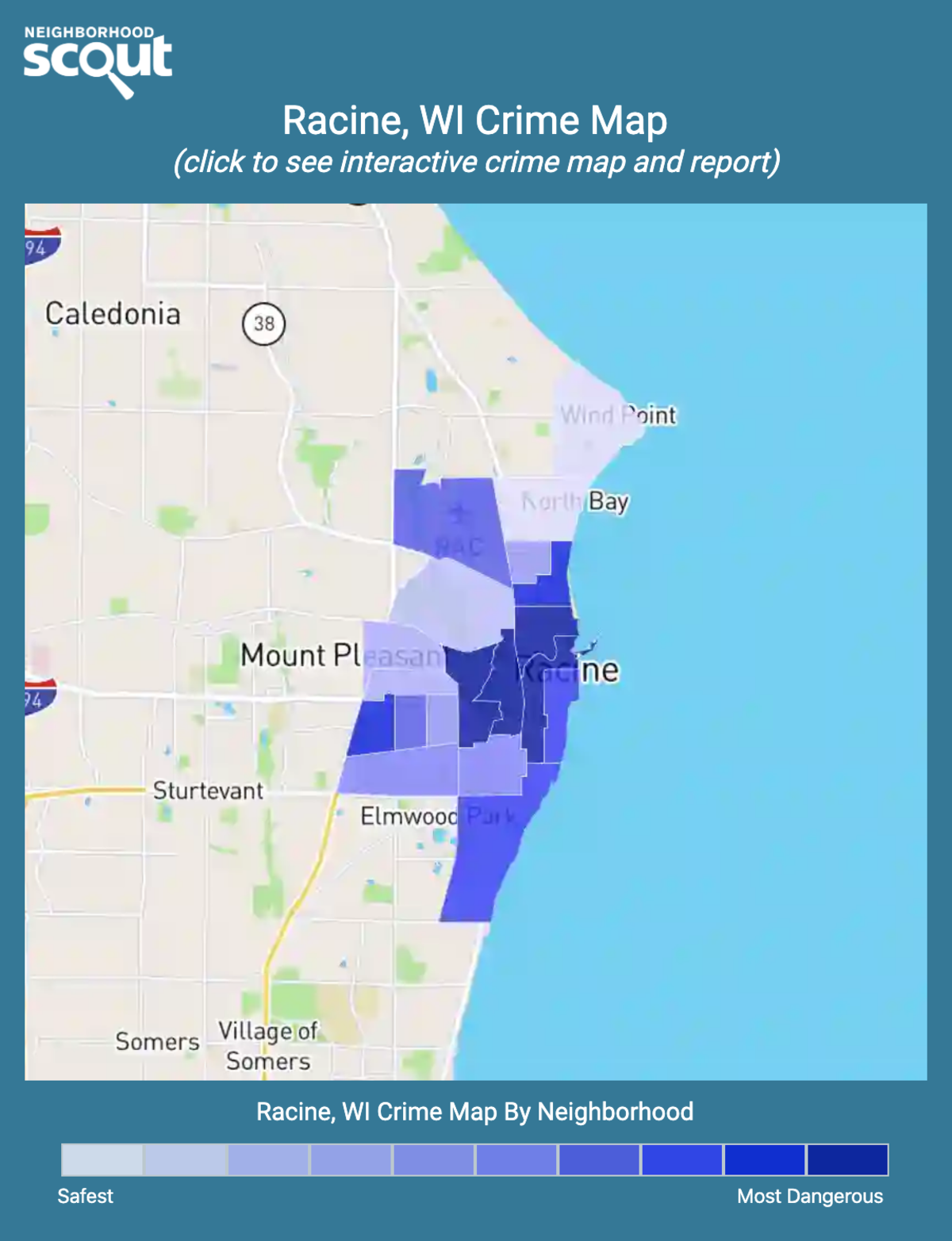 Racine, Wisconsin crime map