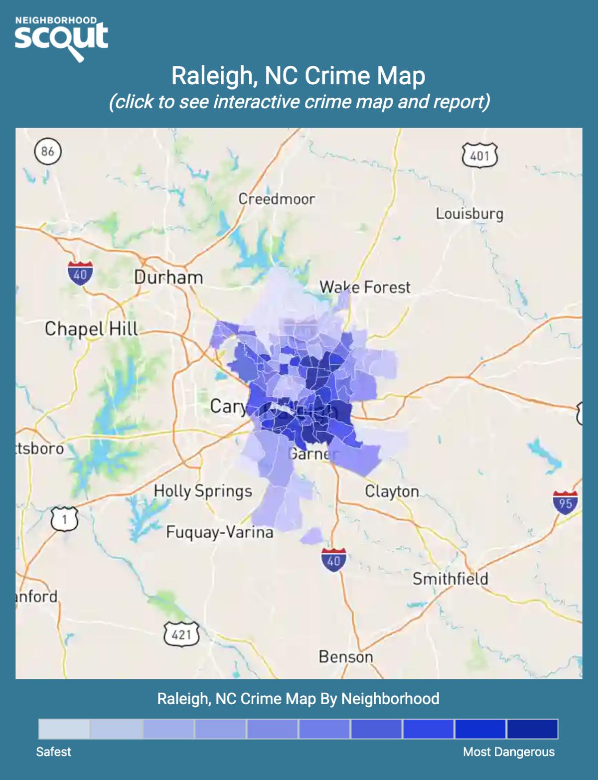 Raleigh, North Carolina crime map