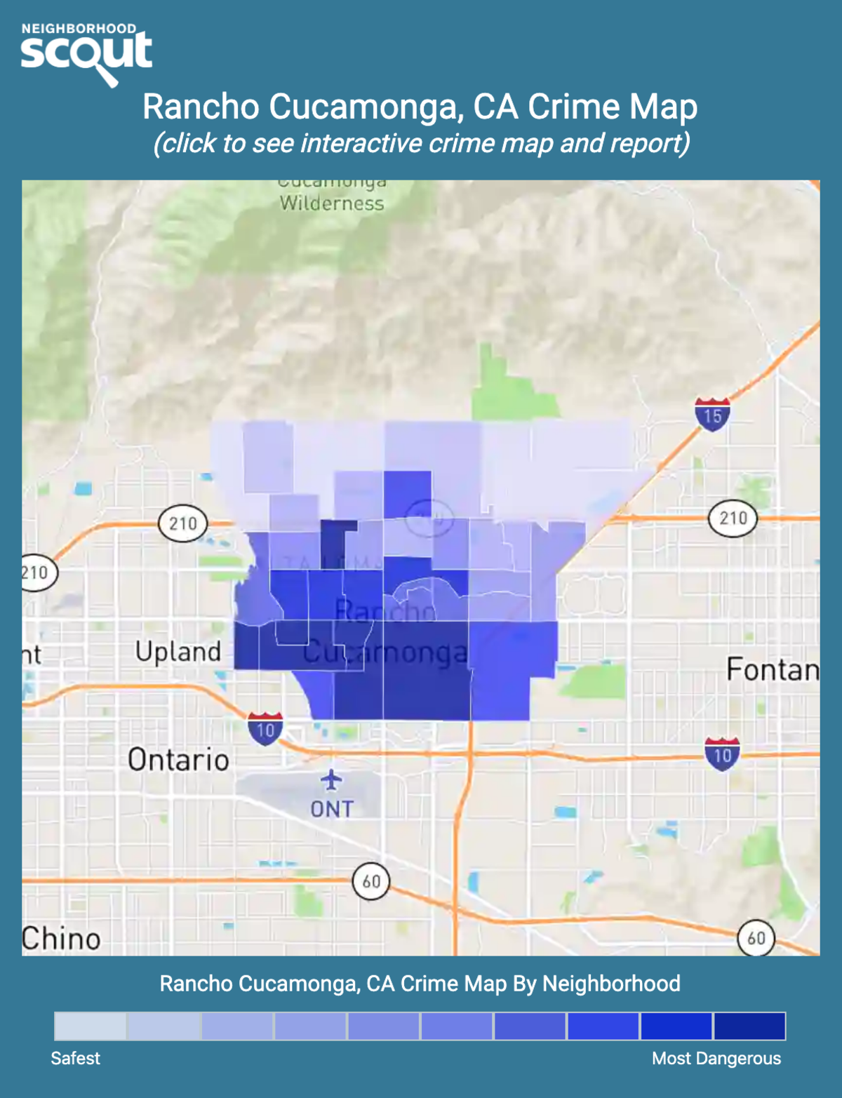 Rancho Cucamonga, California crime map