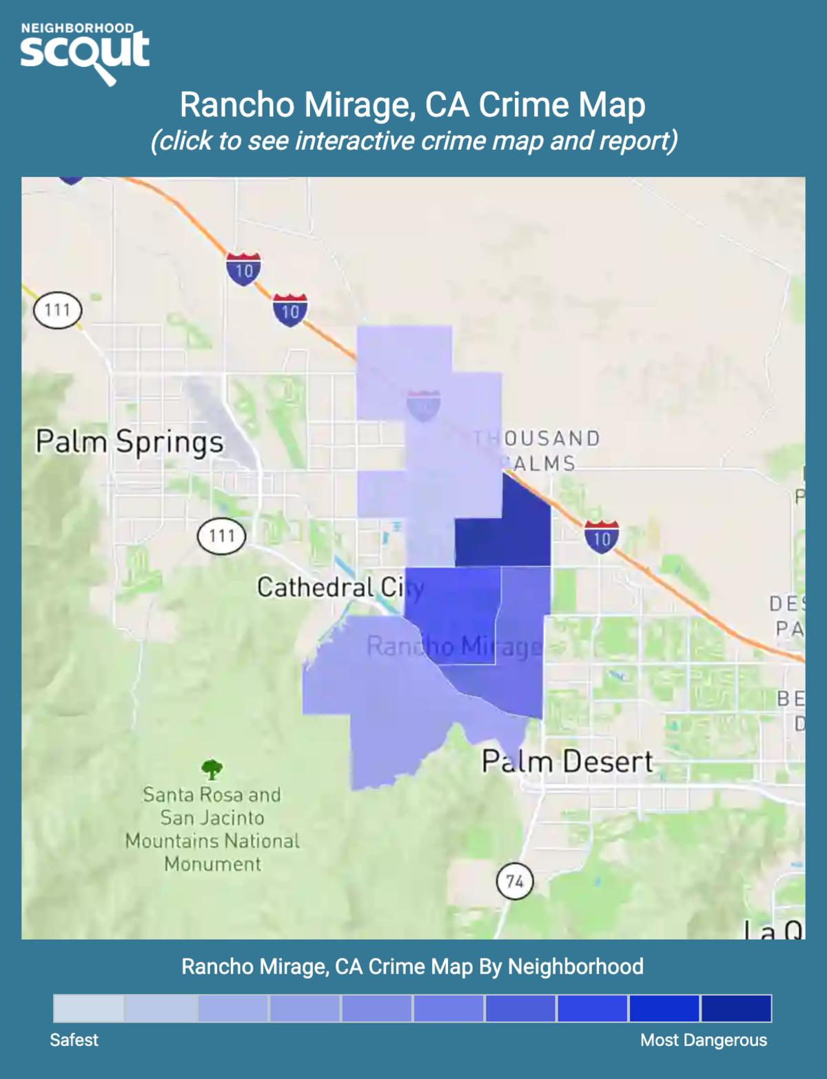 Rancho Mirage, California crime map