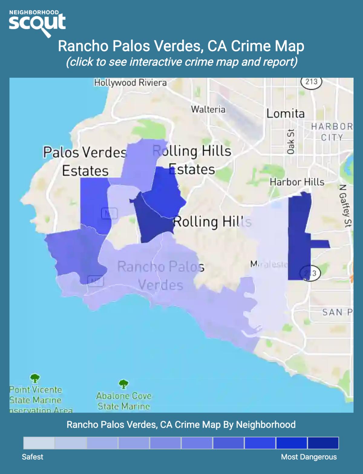 Rancho Palos Verdes, California crime map