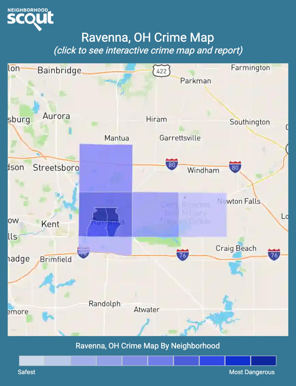 Ravenna, Ohio crime map