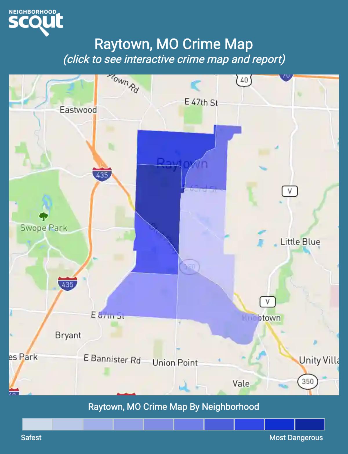 Raytown, Missouri crime map