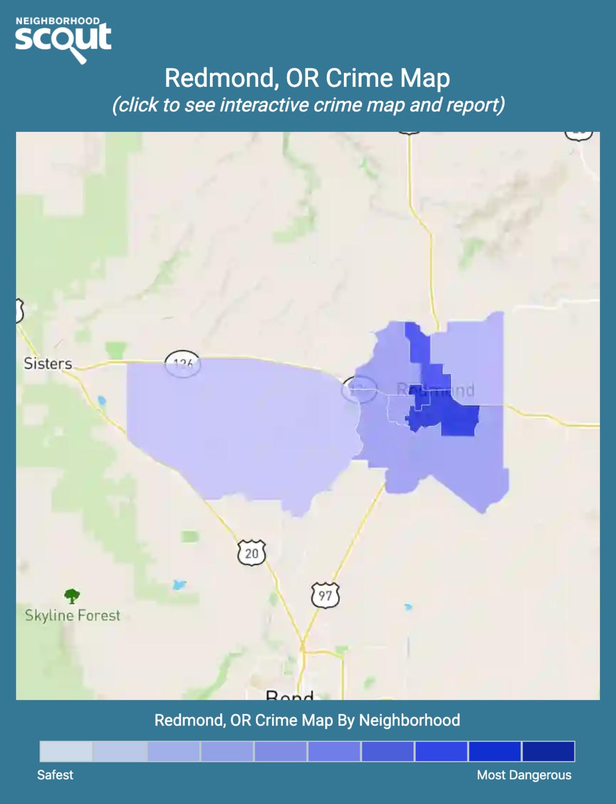 Redmond, Oregon crime map