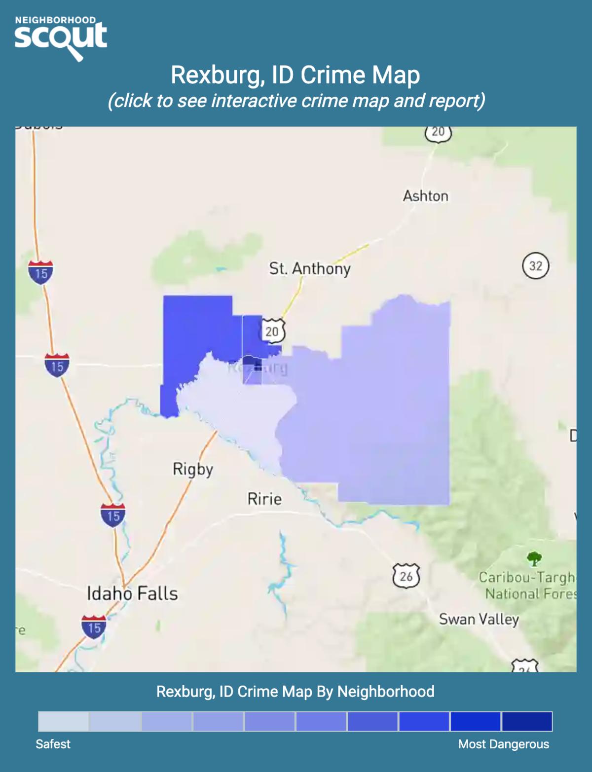 Rexburg, Idaho crime map