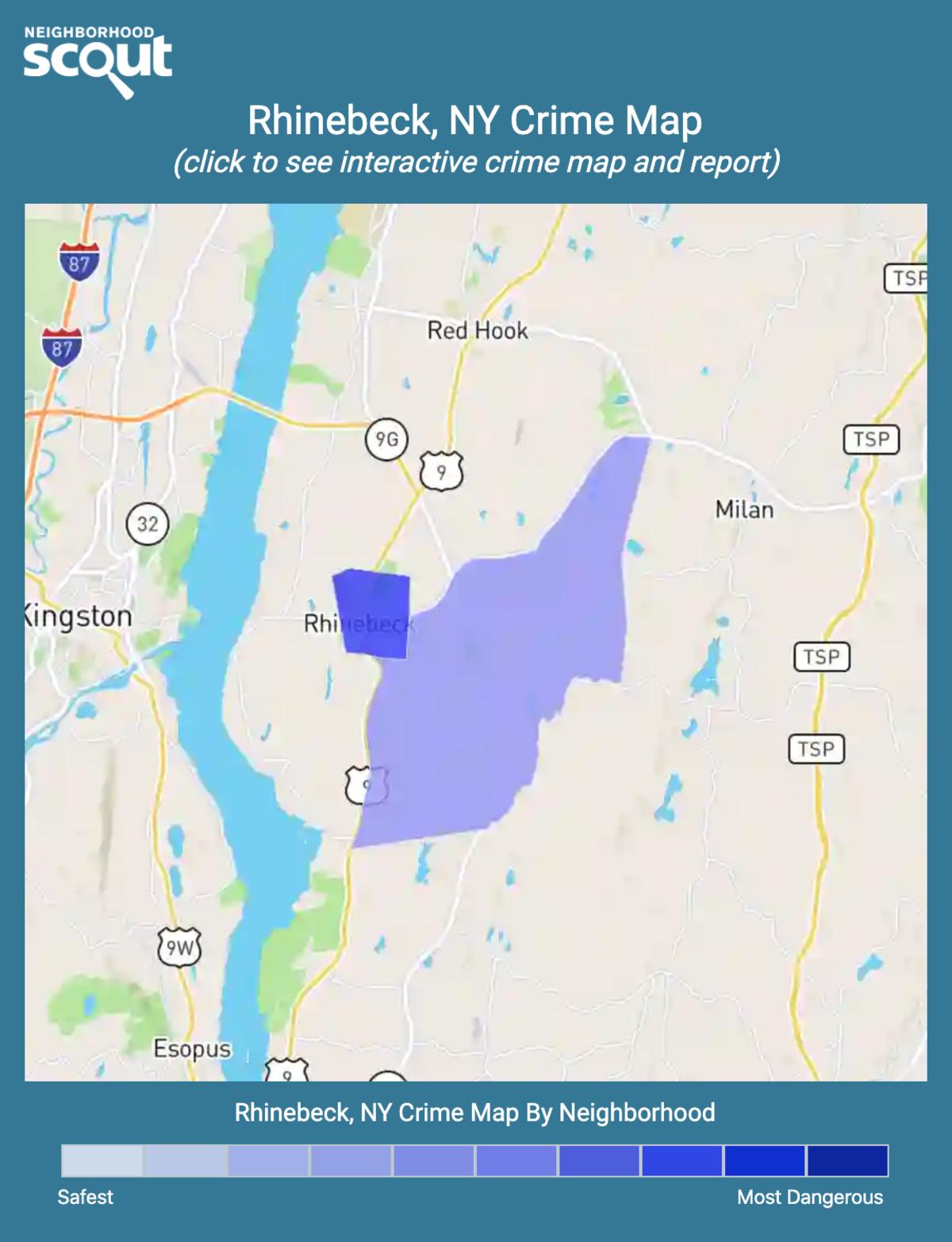 Rhinebeck, New York crime map
