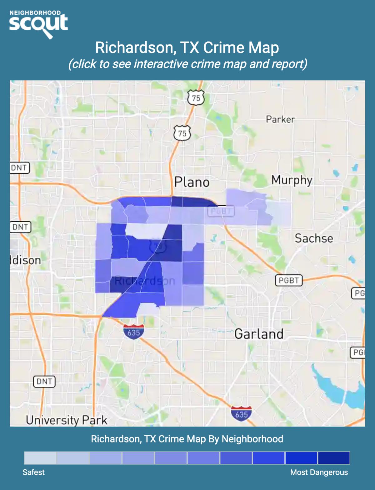Richardson, Texas crime map