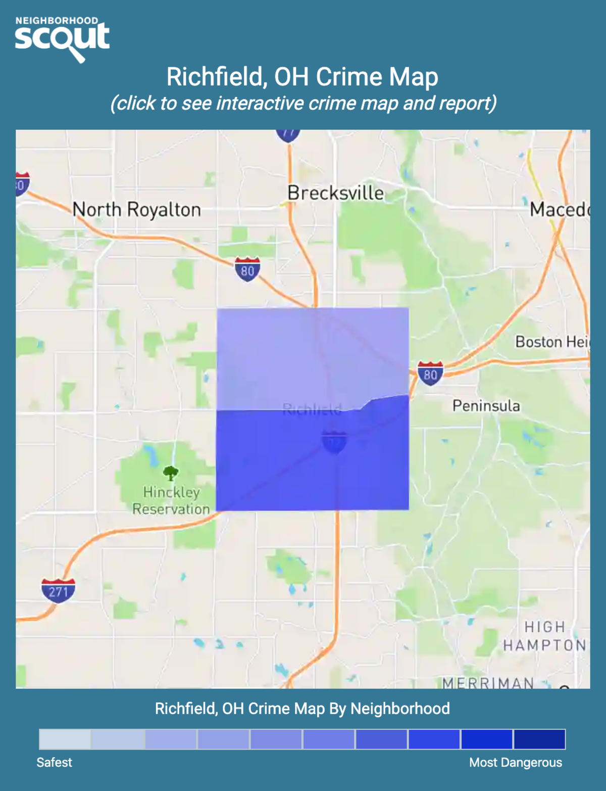 Richfield, Ohio crime map