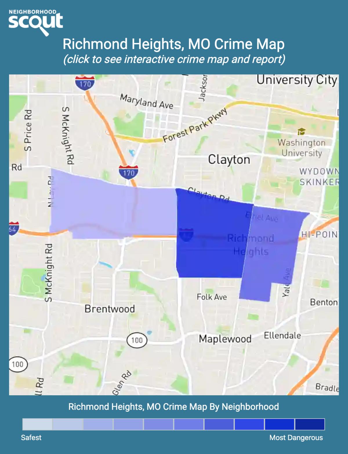 Richmond Heights, Missouri crime map