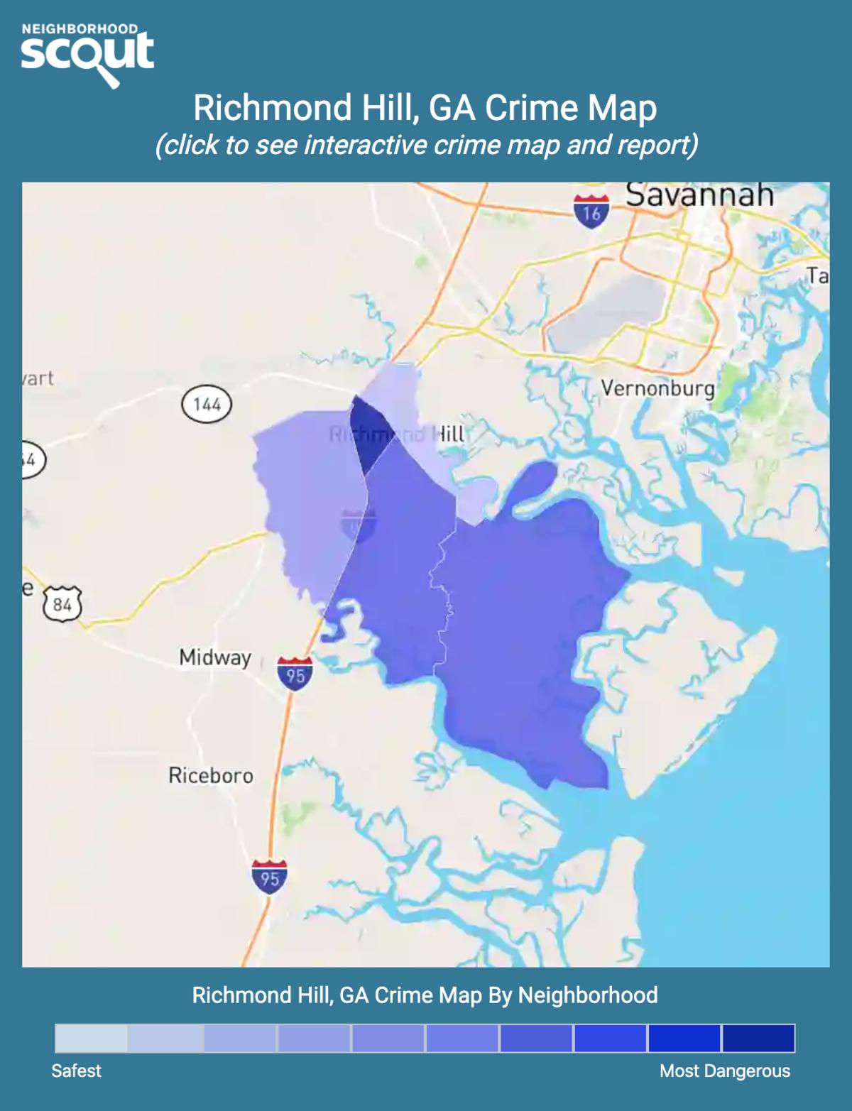 Richmond Hill, Georgia crime map