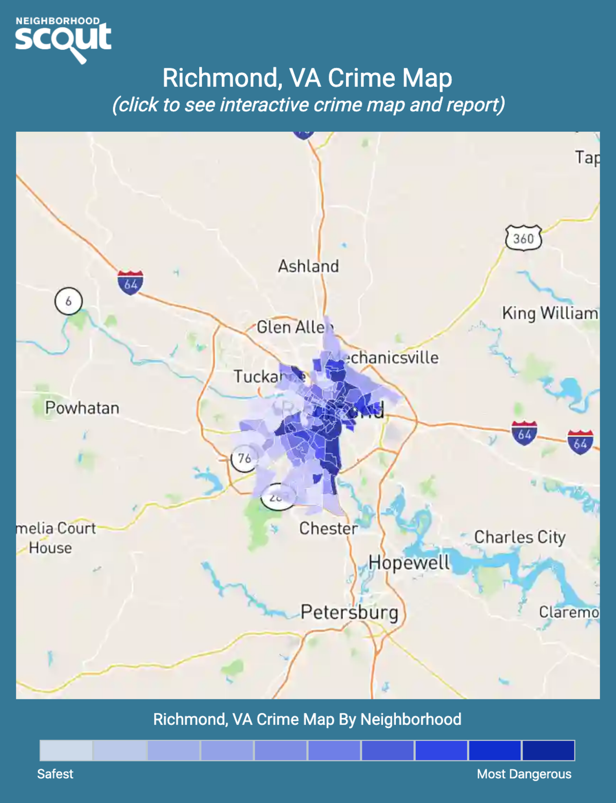 Richmond, Virginia crime map