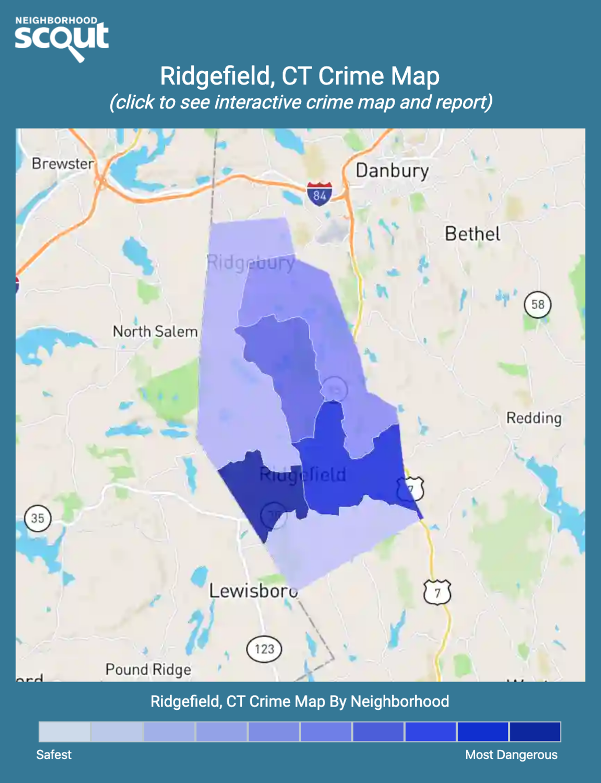 Ridgefield, Connecticut crime map