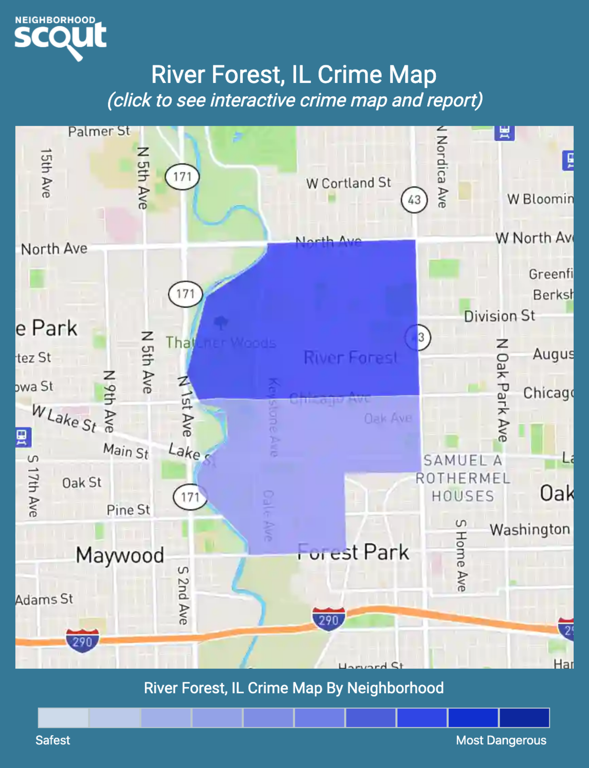 River Forest, Illinois crime map