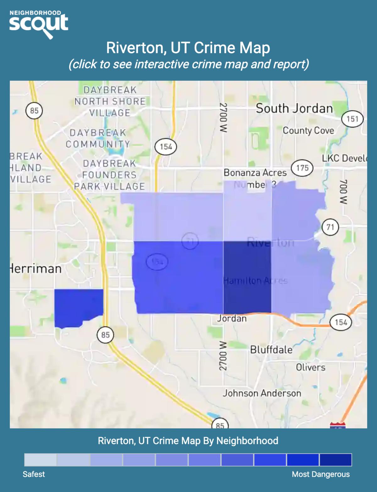 Riverton, Utah crime map