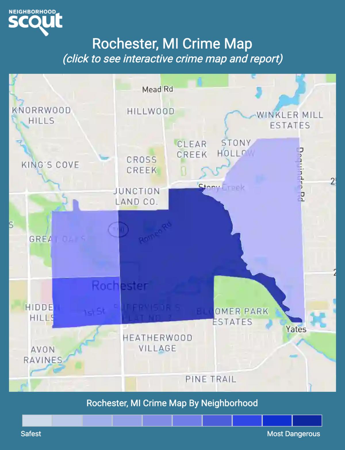 Rochester, Michigan crime map