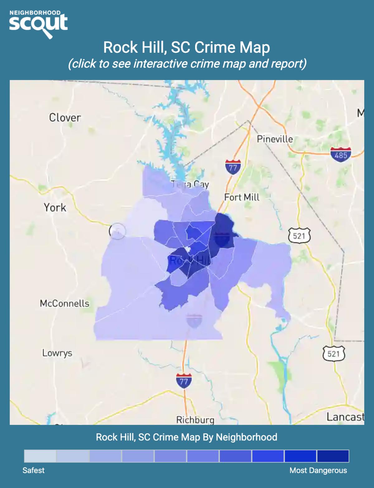Rock Hill, South Carolina crime map