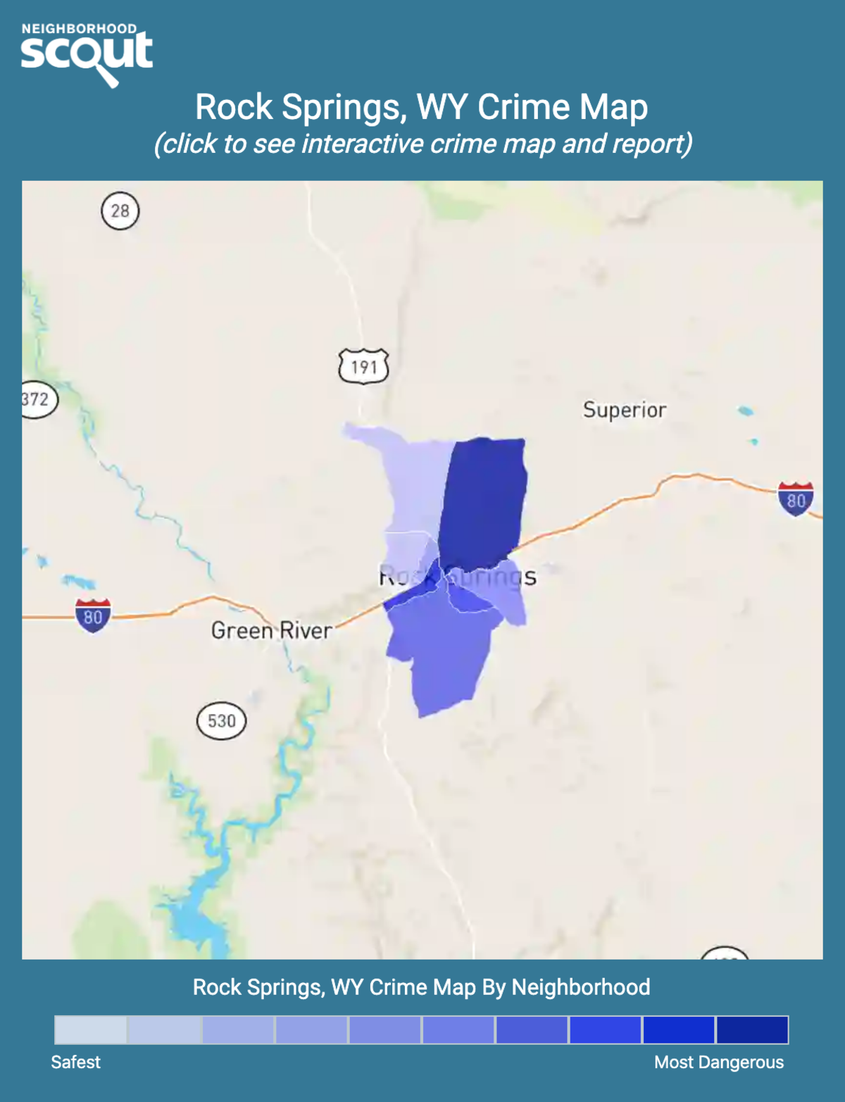 Rock Springs, Wyoming crime map