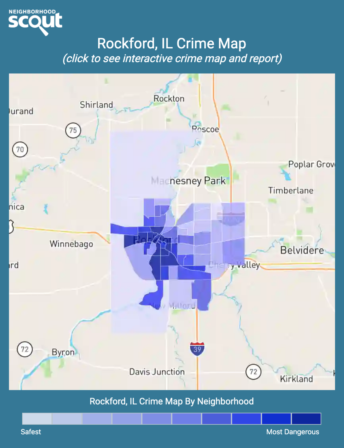 Rockford, Illinois crime map
