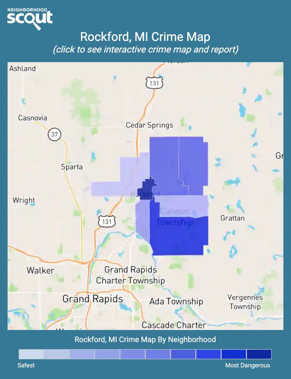 Rockford, Michigan crime map