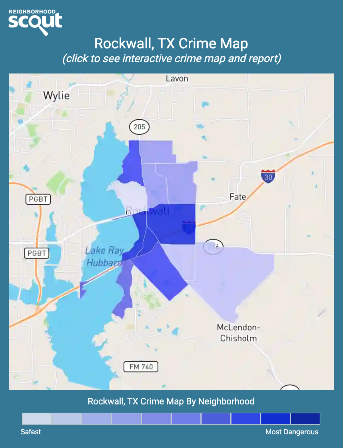 Rockwall, Texas crime map