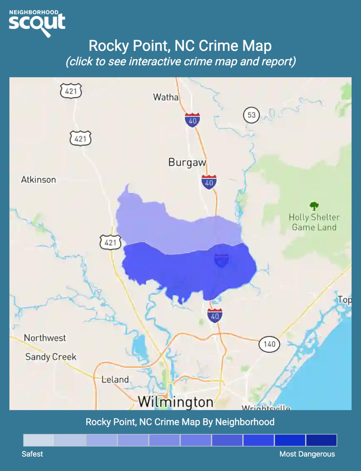 Rocky Point, North Carolina crime map