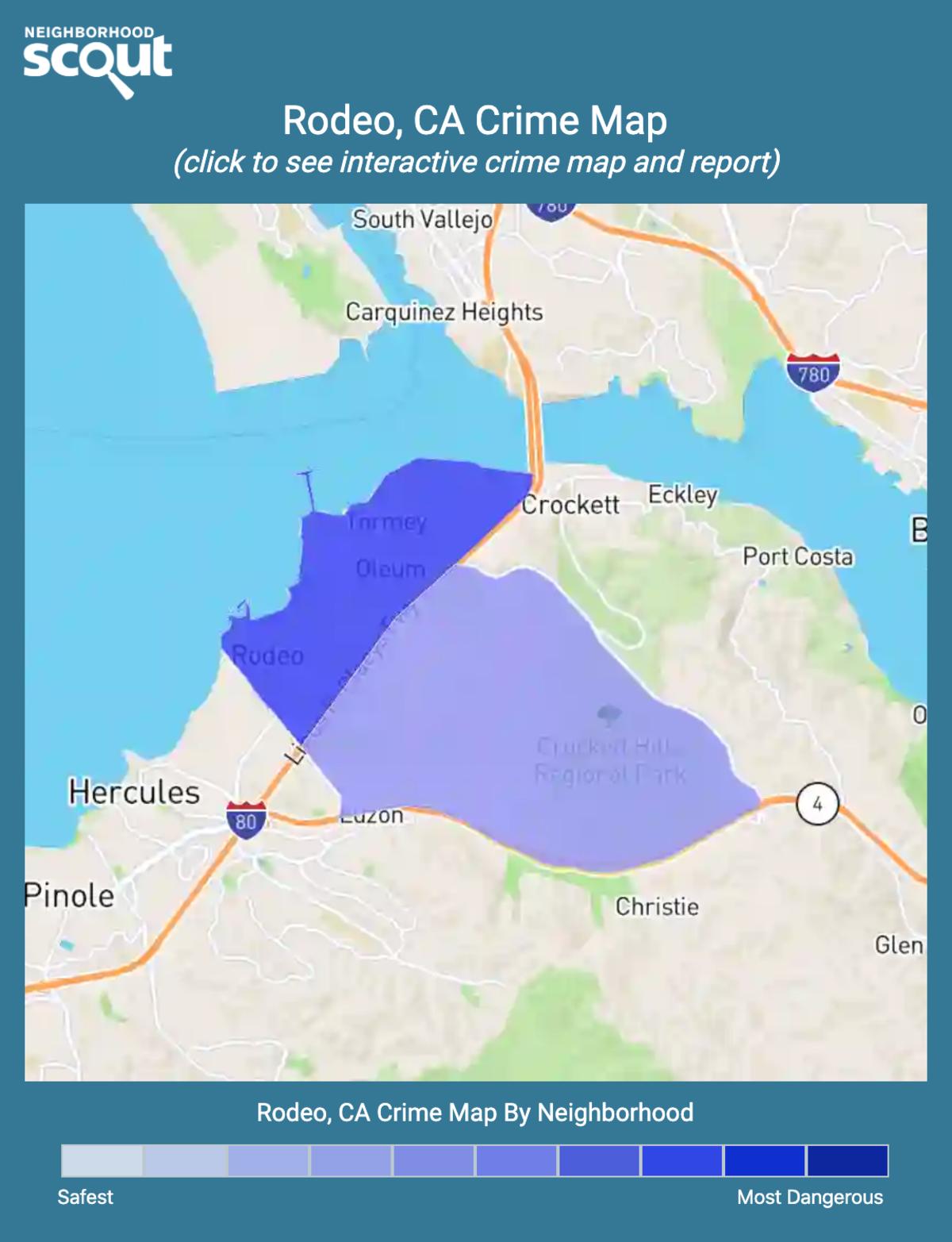 Rodeo, California crime map