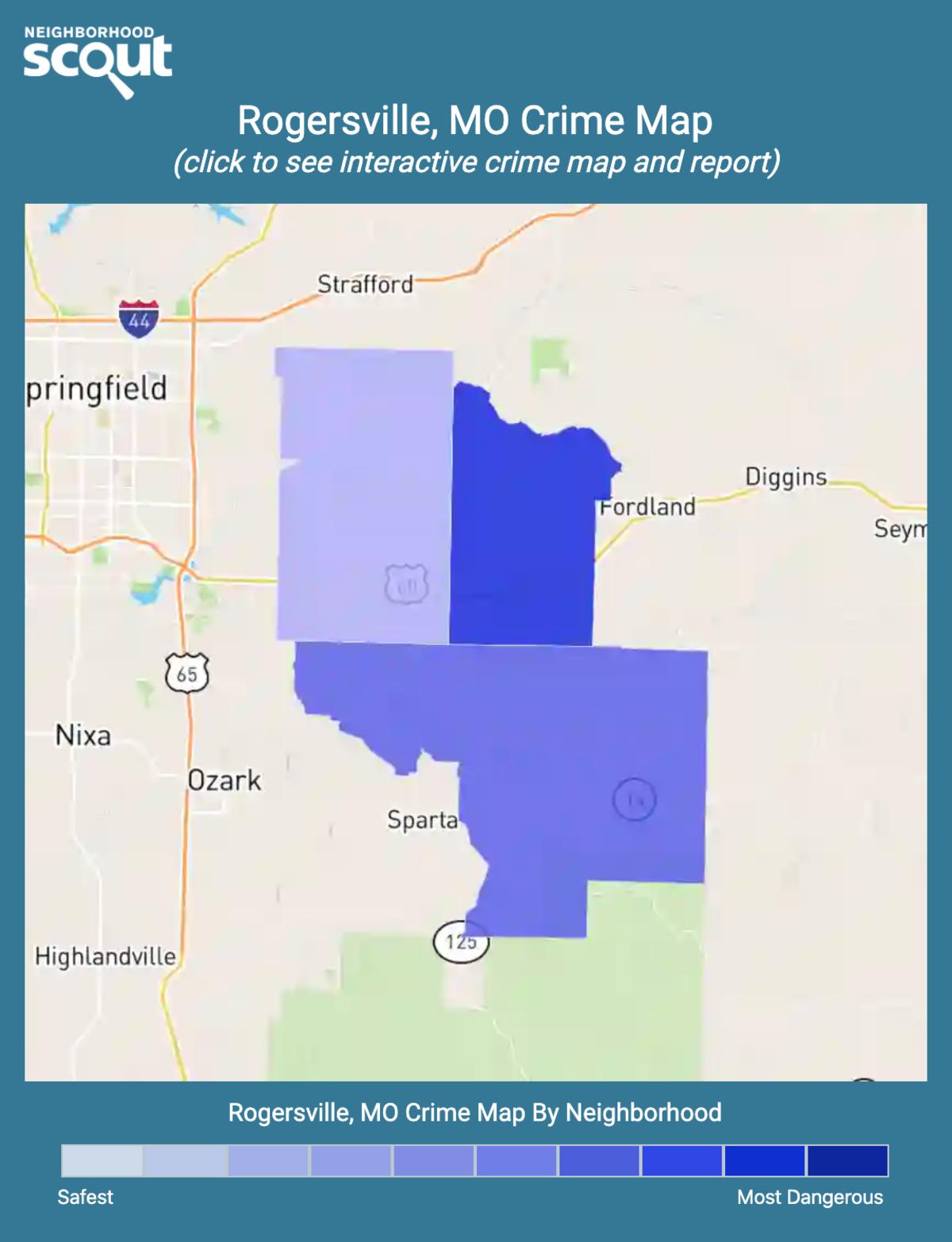 Rogersville, Missouri crime map