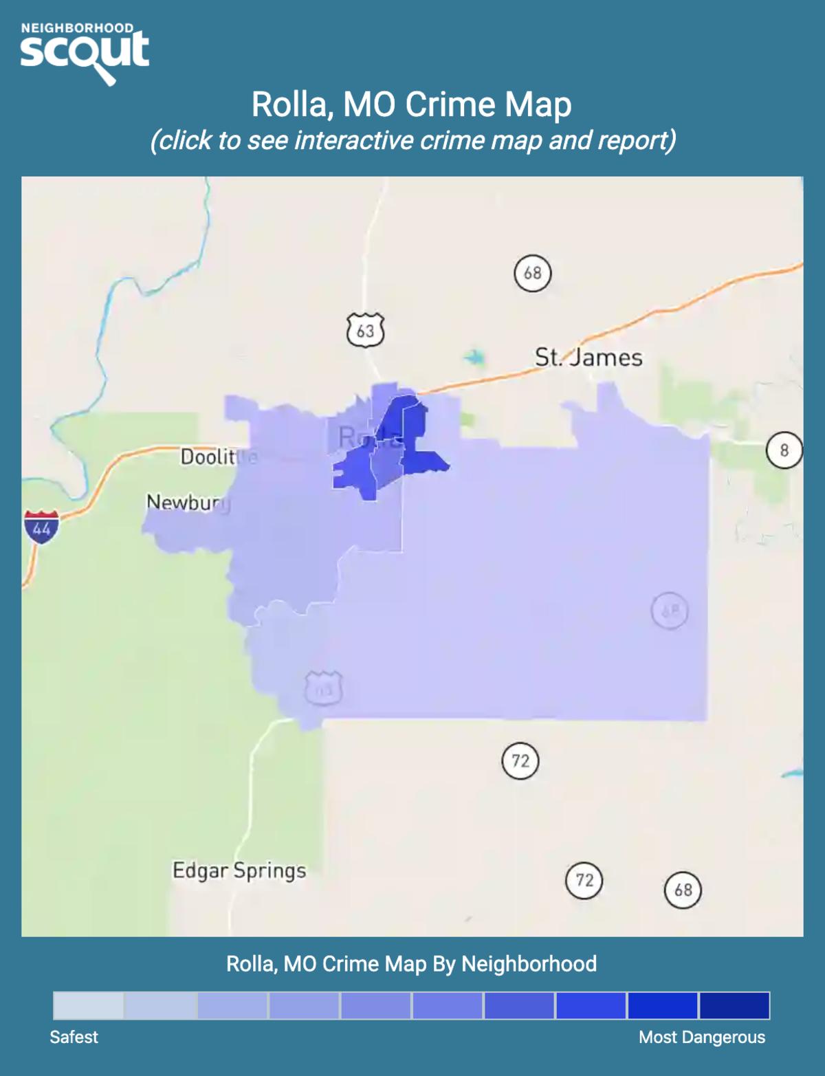 Rolla, Missouri crime map