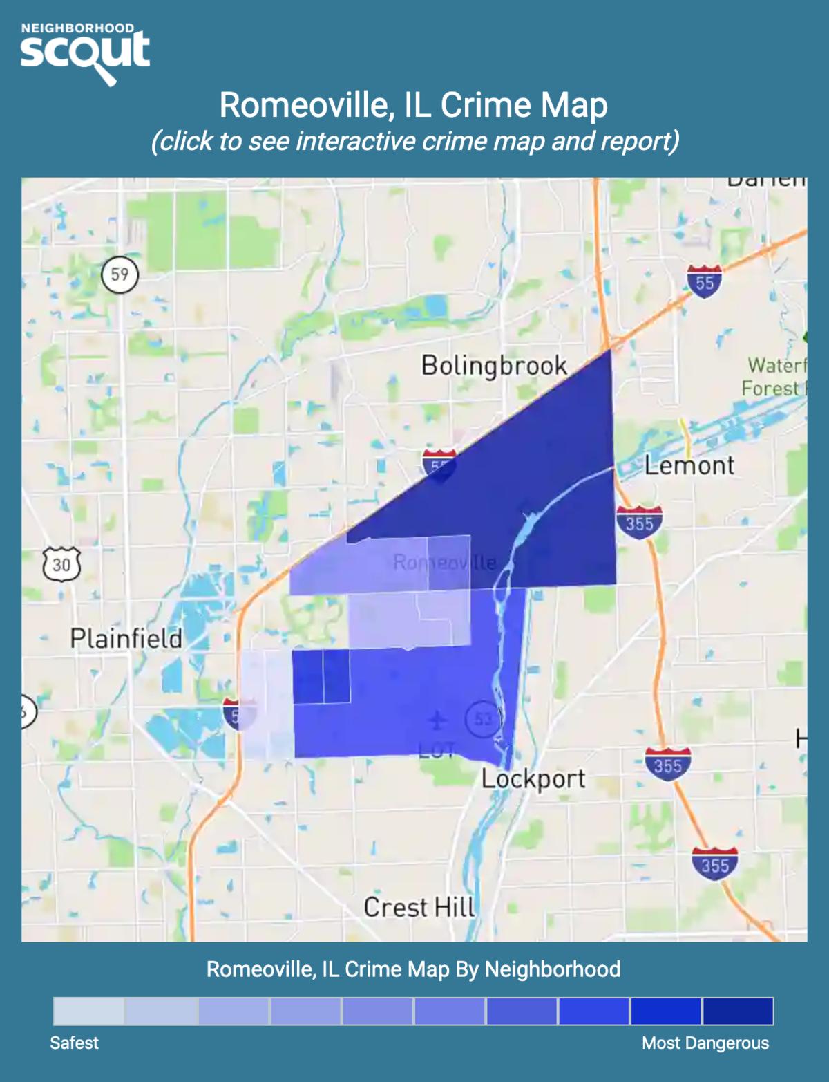 Romeoville, Illinois crime map