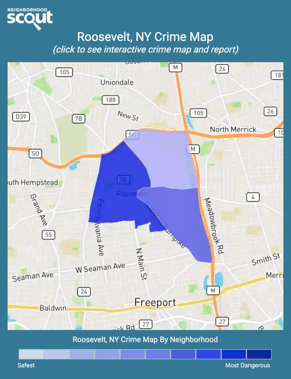 Roosevelt, New York crime map