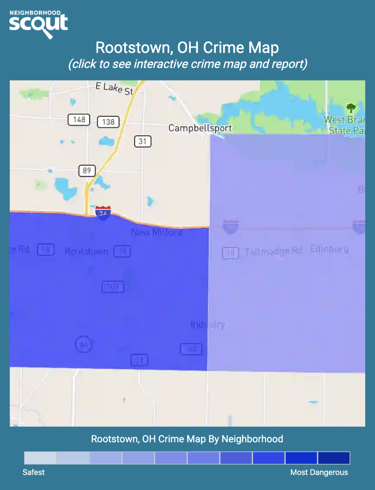 Rootstown, Ohio crime map