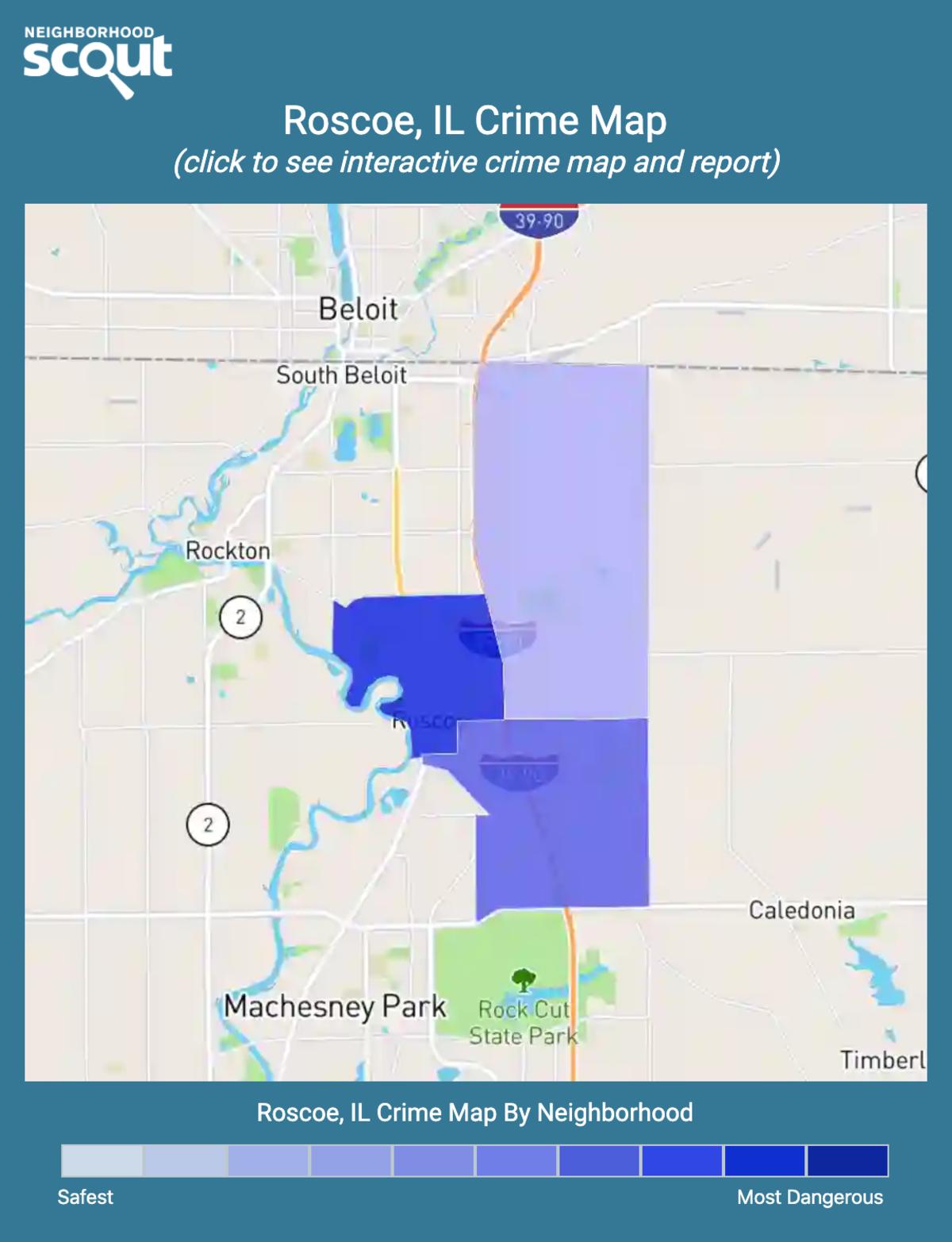 Roscoe, Illinois crime map