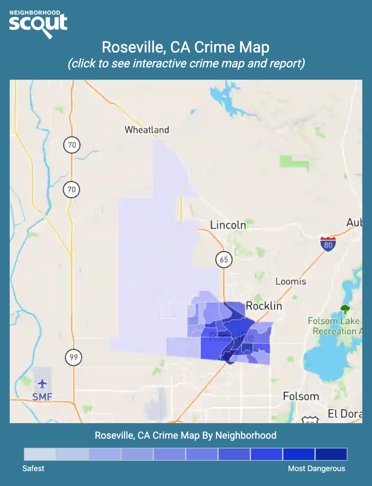 Roseville, California crime map