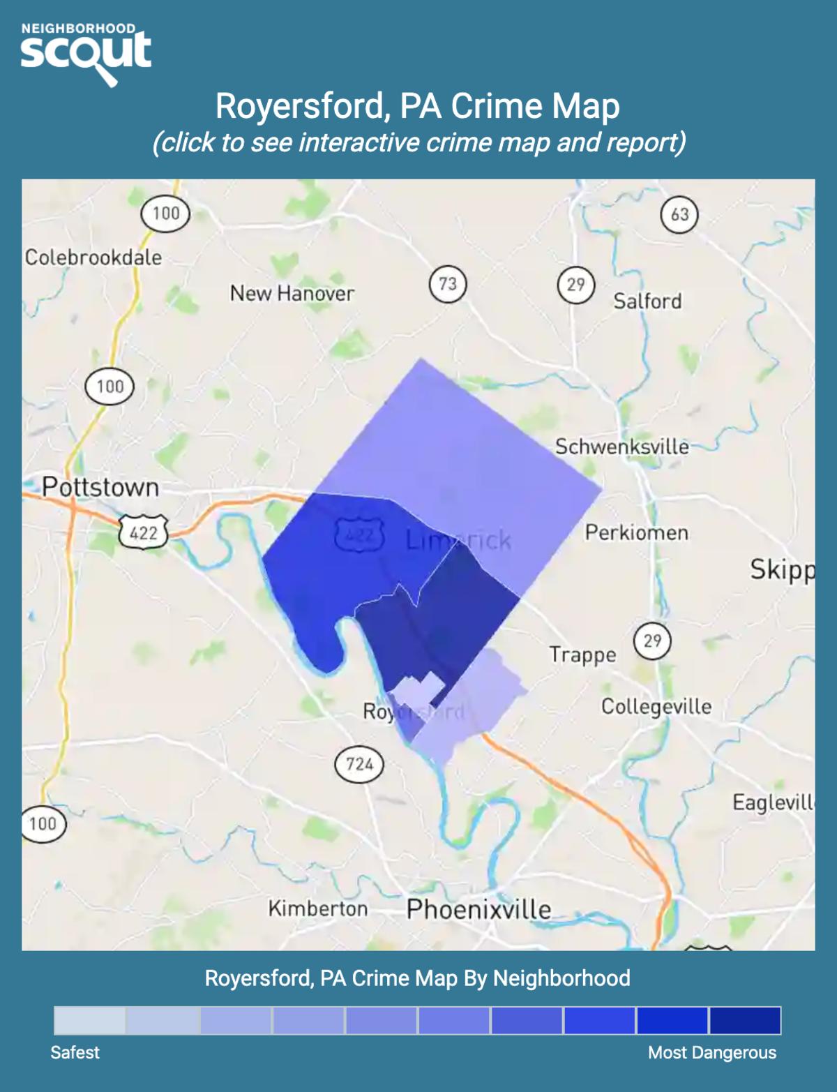 Royersford, Pennsylvania crime map