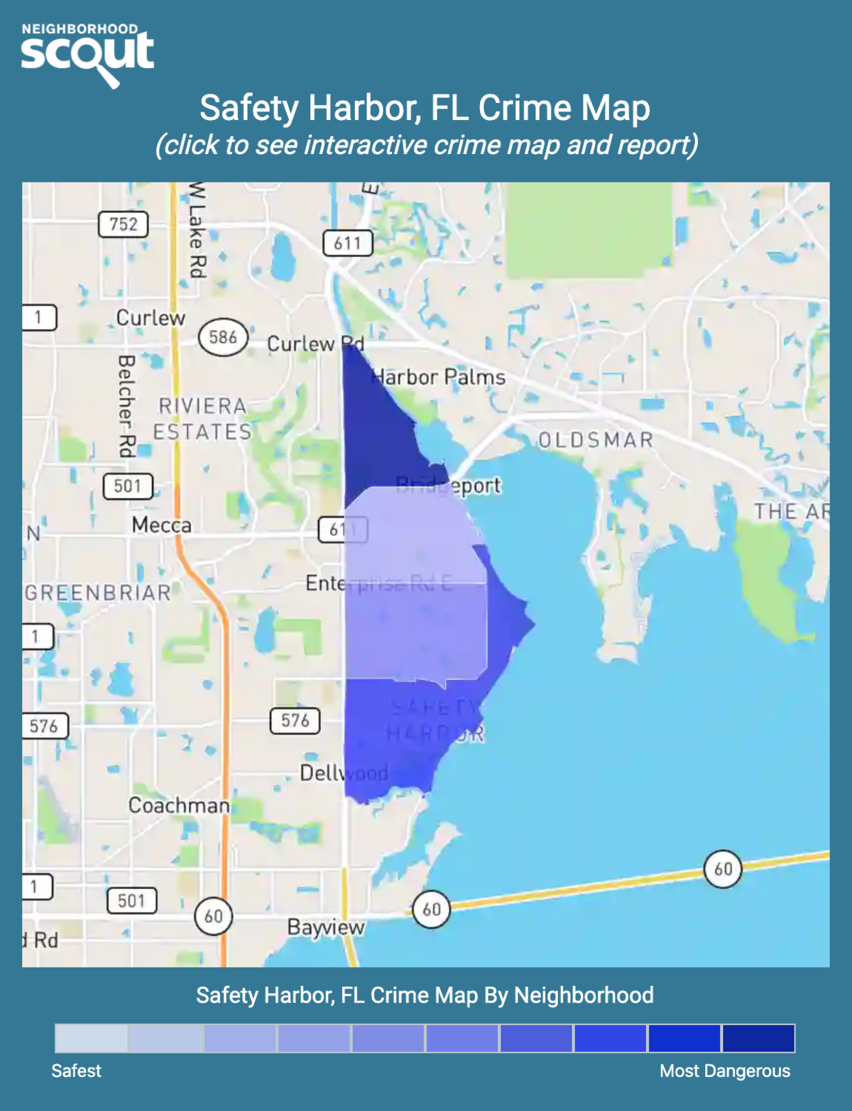 Safety Harbor, Florida crime map