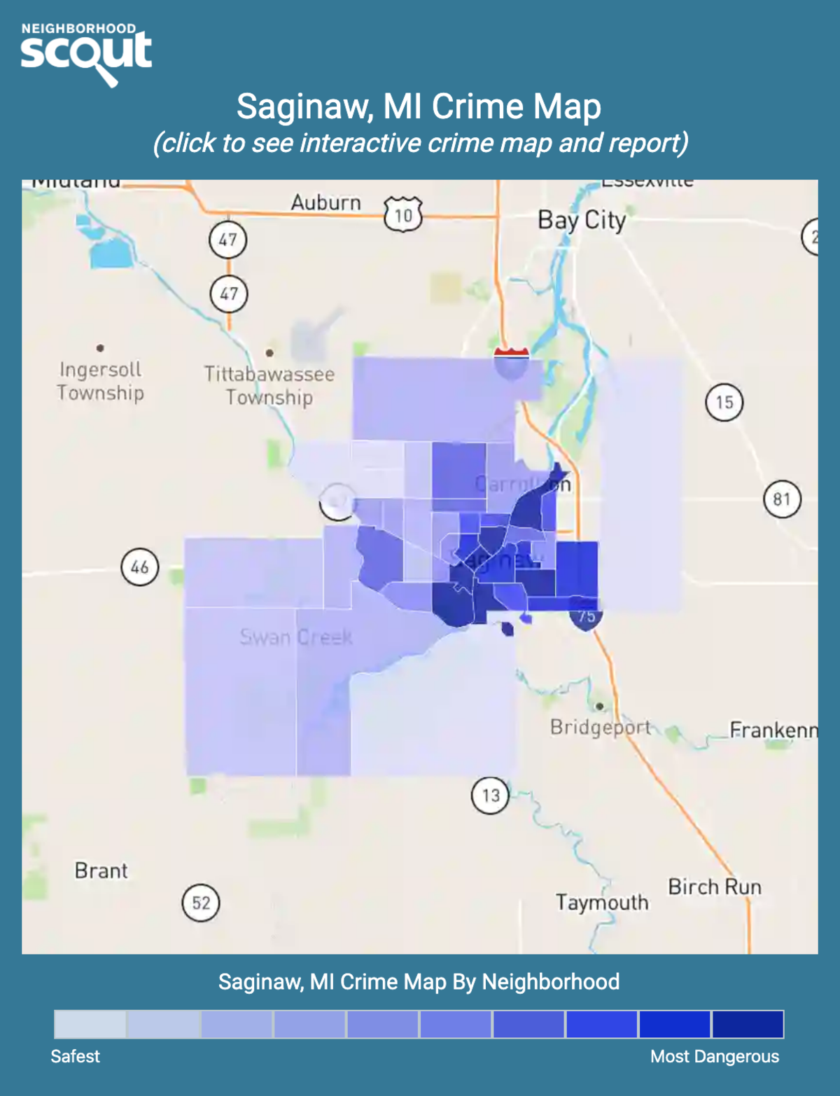 Saginaw, Michigan crime map
