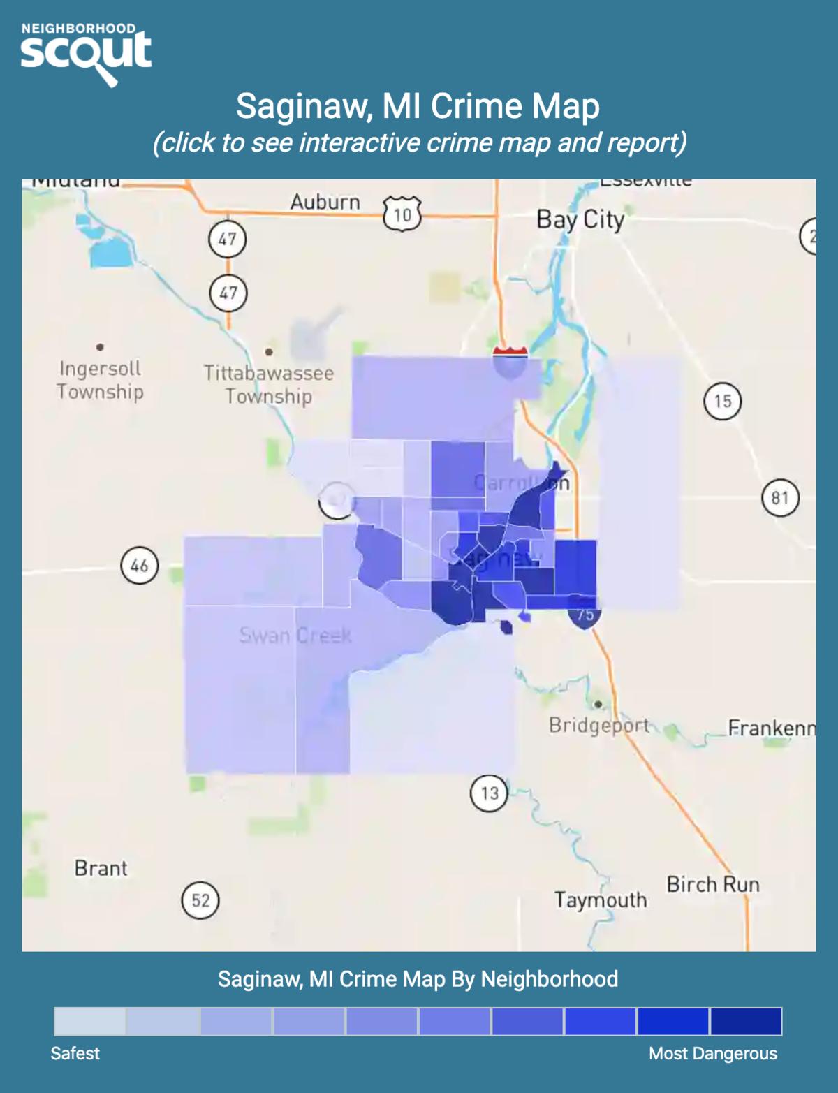 Saginaw, Michigan crime map