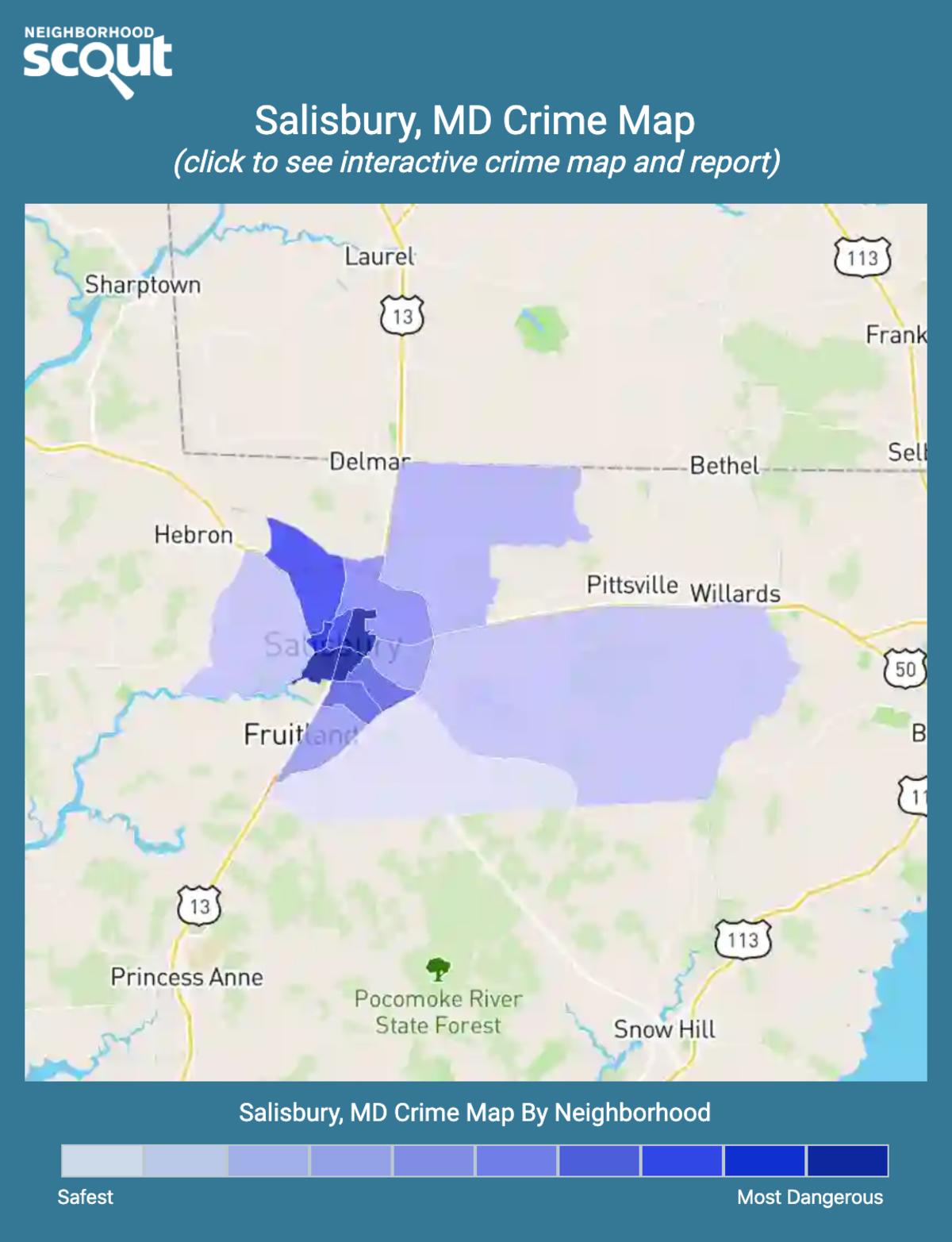 Salisbury, Maryland crime map