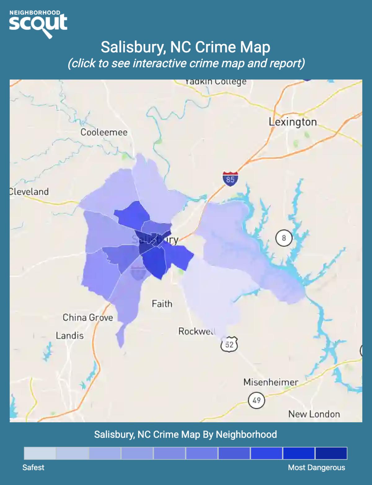 Salisbury, North Carolina crime map