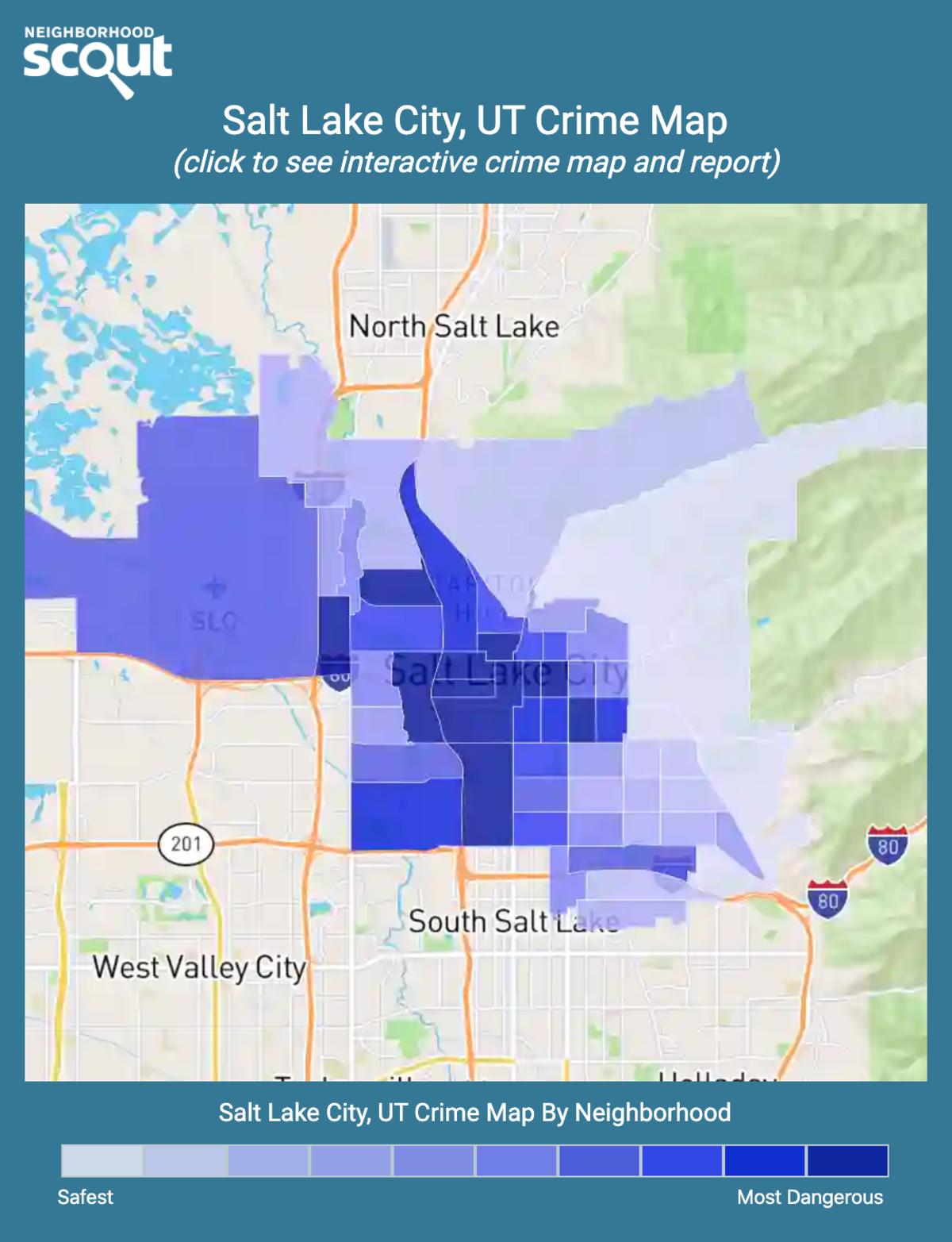 Salt Lake City, Utah crime map