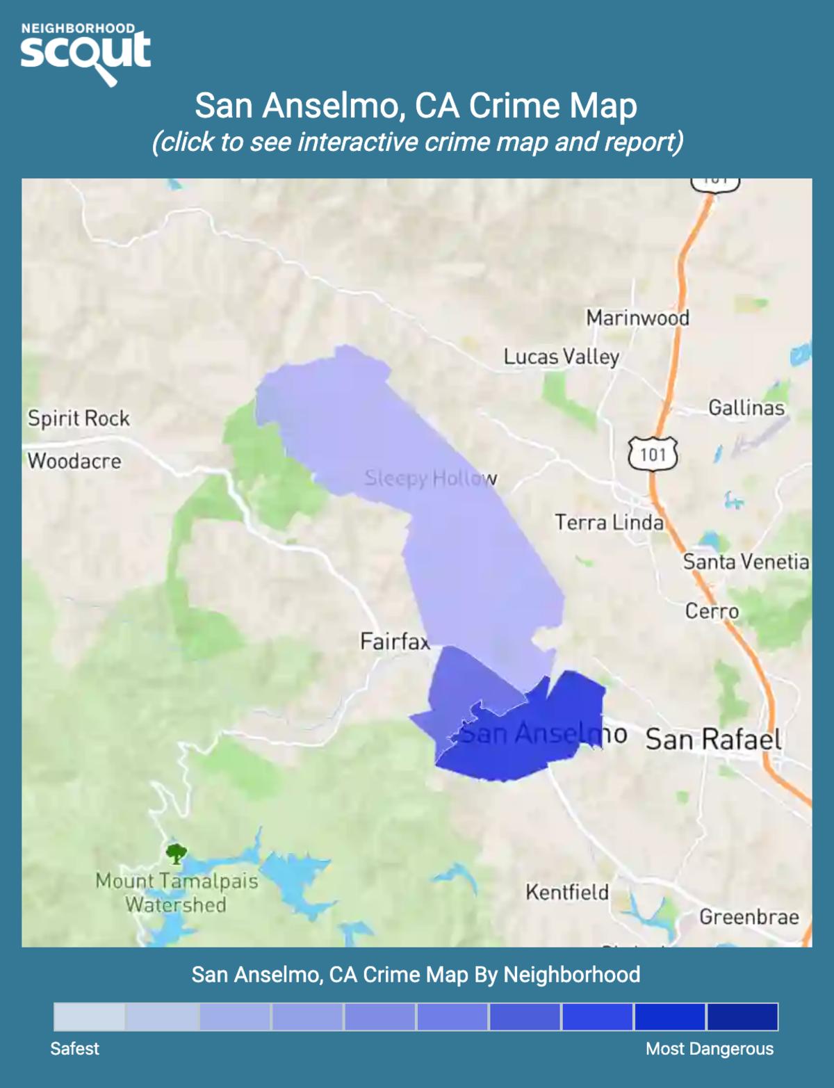 San Anselmo, California crime map