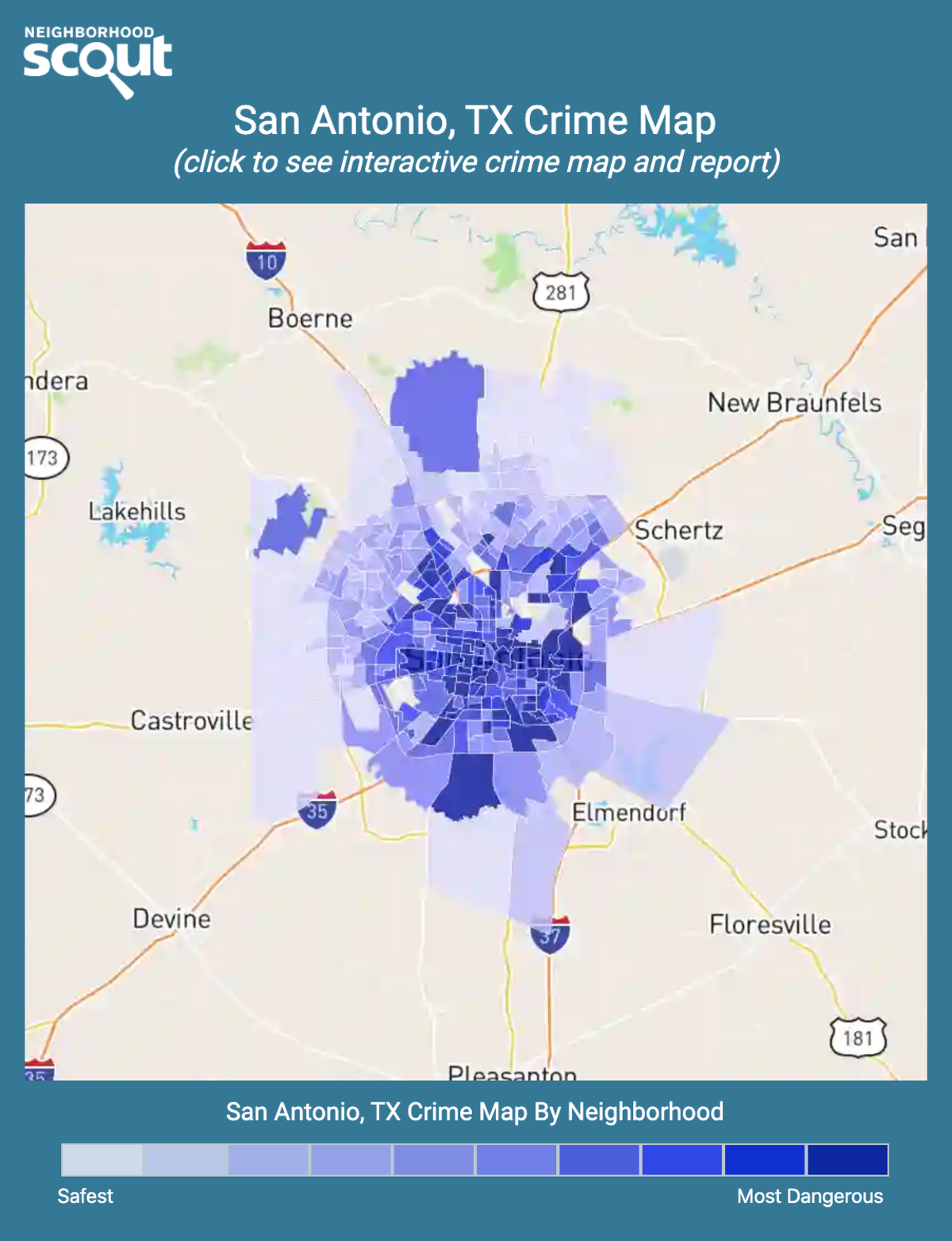 San Antonio, Texas crime map