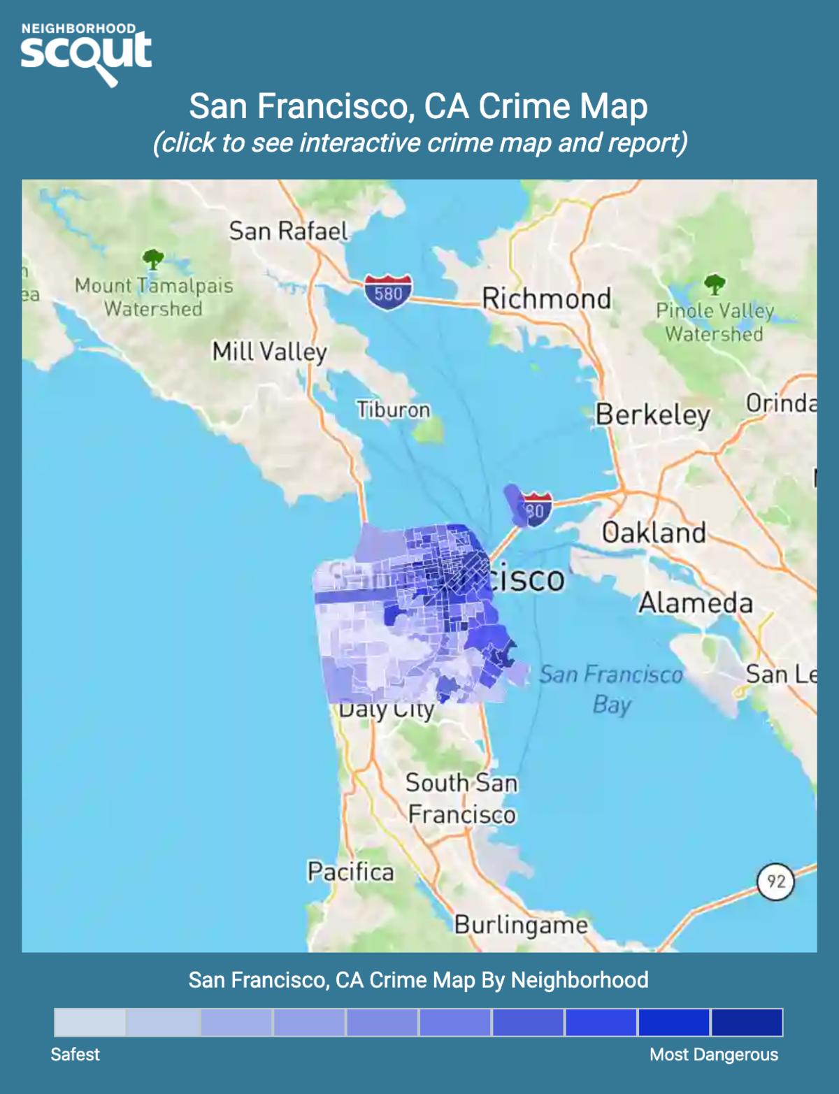 San Francisco, California crime map
