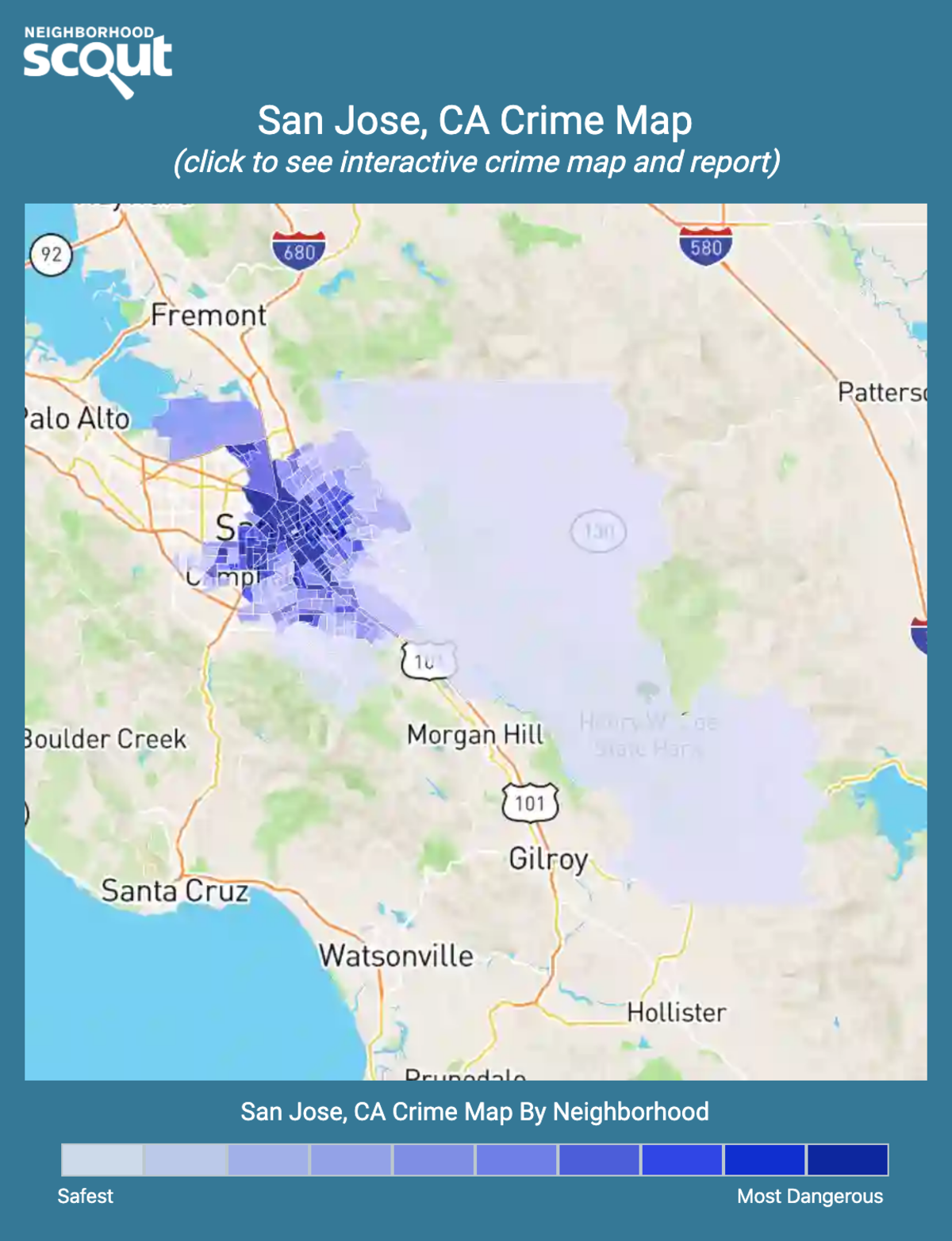 San Jose, California crime map