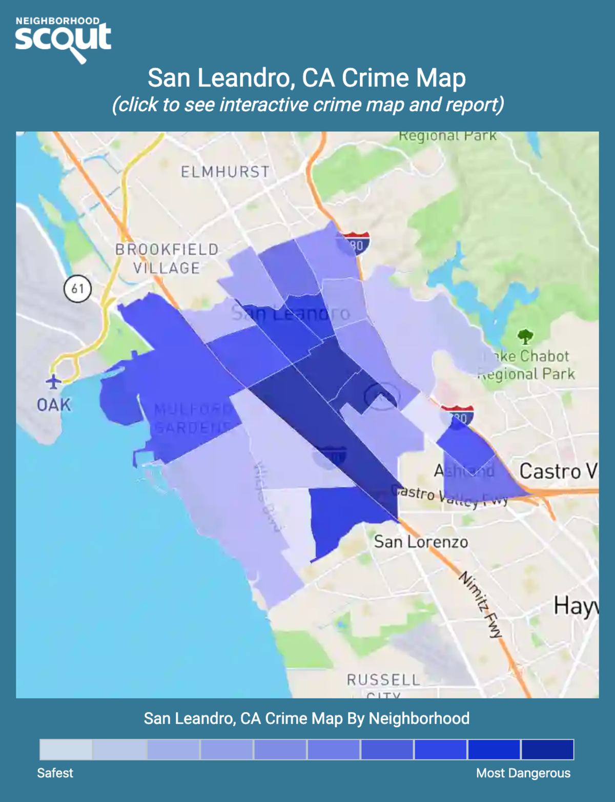 San Leandro, California crime map
