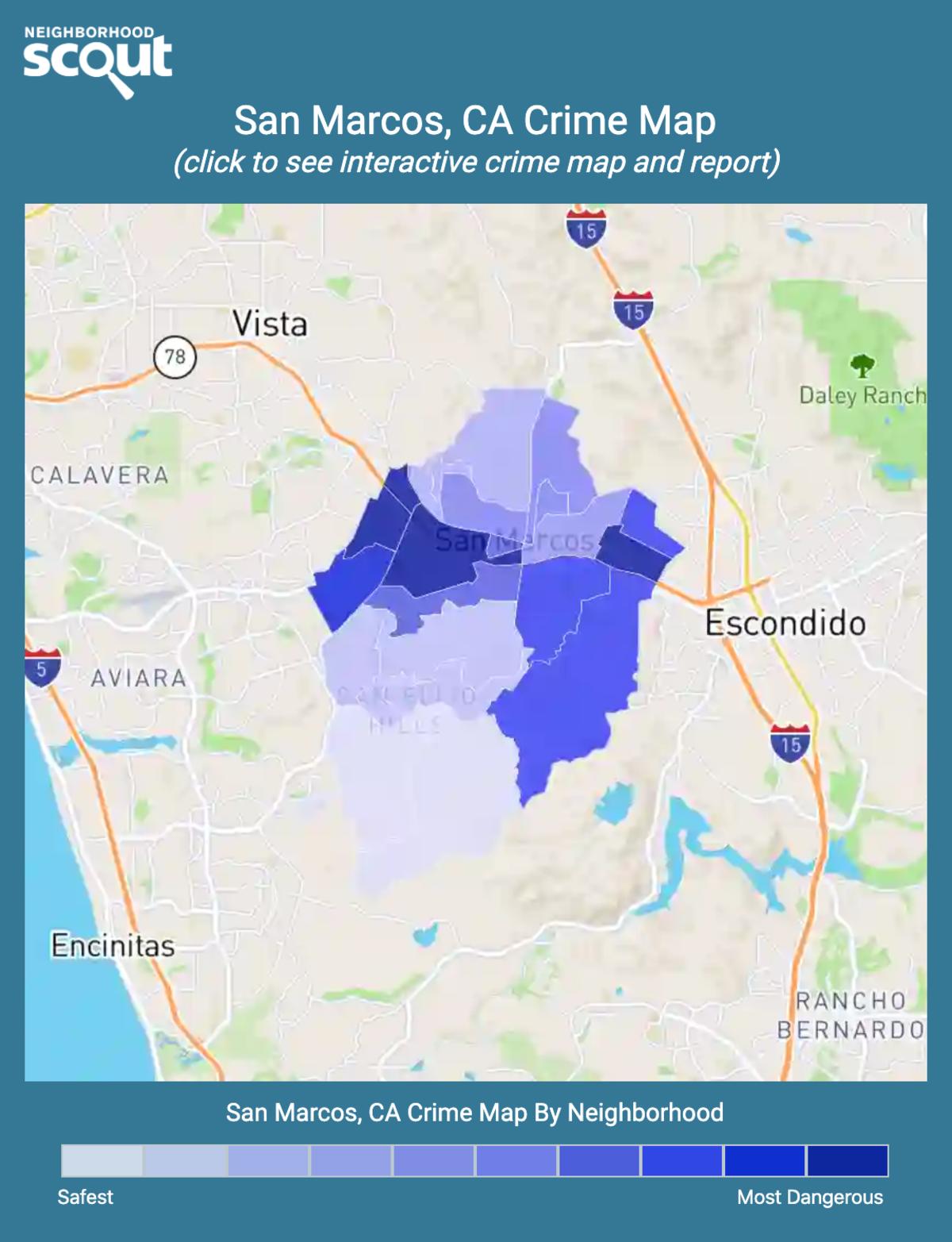 San Marcos, California crime map