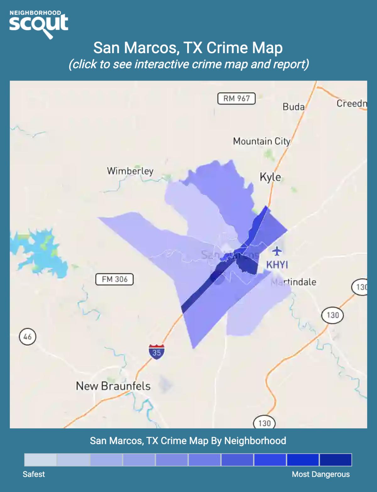 San Marcos, Texas crime map