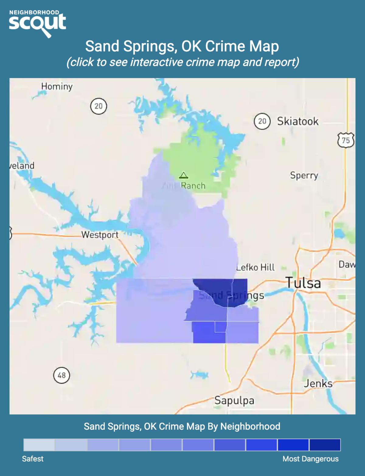 Sand Springs, Oklahoma crime map