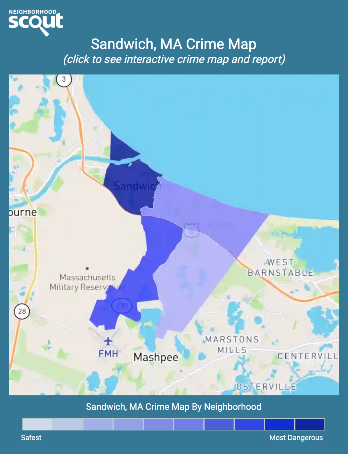 Sandwich, Massachusetts crime map