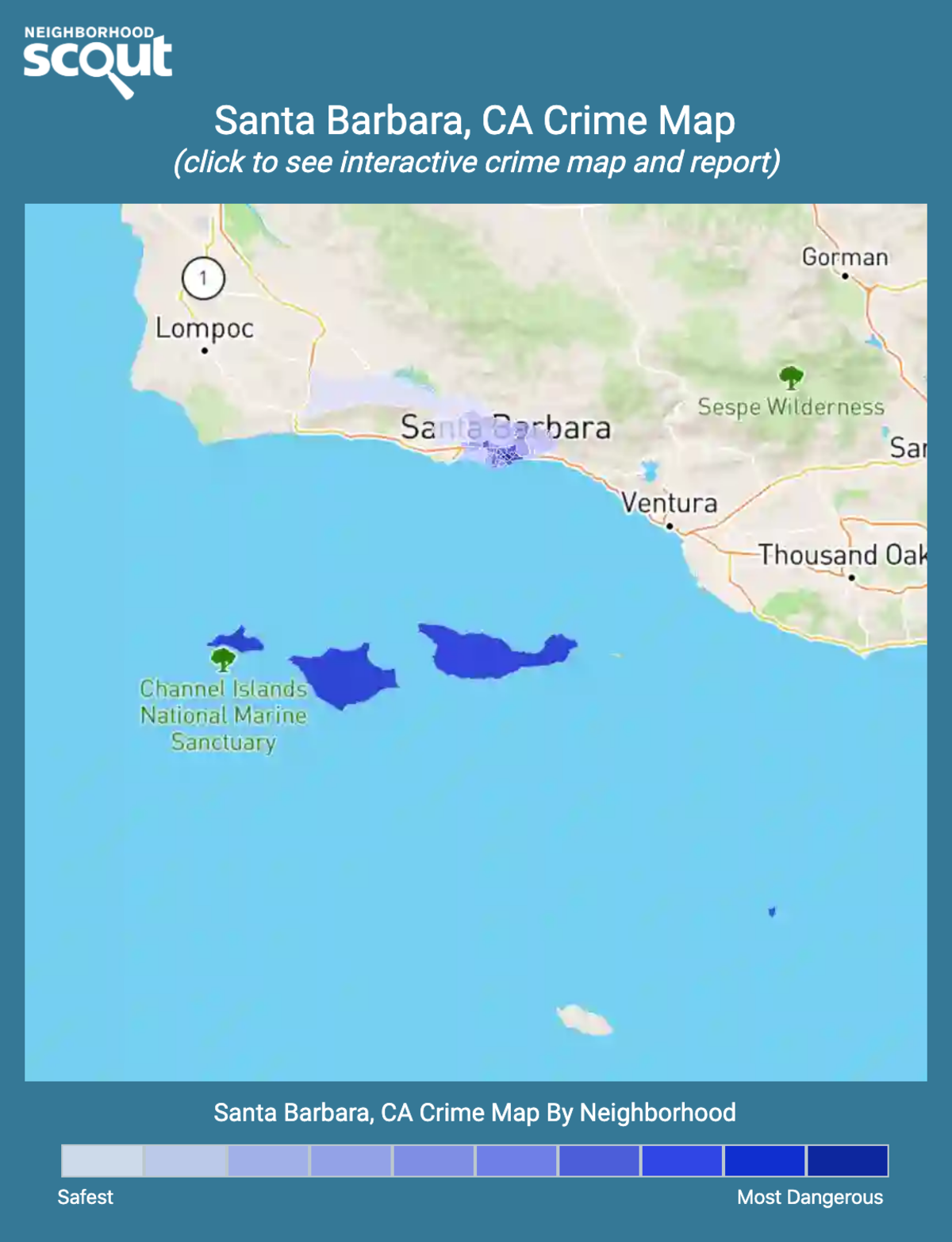 Santa Barbara, California crime map
